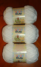 Bernat Baby Blanket Yarn Lot Of 3 Skeins (White #03005) 3.5 oz. Skeins
