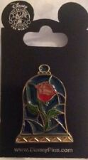 Beauty and The Beast Stained Glass Rose Disney Pin