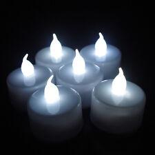 10x LED Flickering Tea Light Candle Tealights Wedding Flameless Party Xmas White