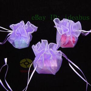 "25/50/100pcs Circle Diameter:10"" Organza Pouches Jewelry Wedding Favor Gift Bags"