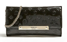 GUESS HIGHLIGHT Clutch Black Patent, Women's Bag Shoulder Bag Pochette