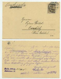 79624 - Perfins V.E. = Verein für Soziale Ethik - Mi.Nr. 84 - Berlin 11.4.1910