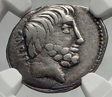 Roman Republic Sabine KING of Rome TATIUS Ancient Silver Coin CHARIOT NGC i61972