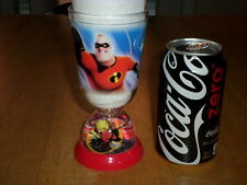 DISNEY / PIXAR -THE INCREDIBLES ANIMATED MOVIE, PLASTIC DRINKING CUP /BASE GLOBE