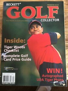 Rare 2001 Beckett Golf Collector # 1 Magazine; Tiger Woods Special; Near-Mint!