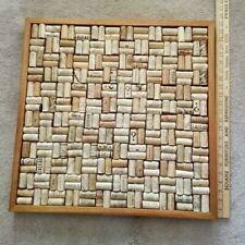 """Wine Enthusiast Wine Cork Bulletin Message Board 22""""x22"""" Completed kit Mahogany"""