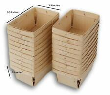 """24    WOODEN STRAWBERRY BOXES  /""""QUART SIZE/"""" WOOD BERRY BOXES FOR CRAFTS"""