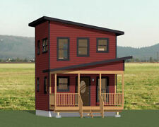 16x16 Tiny House -- 433 sq ft -- PDF Floor Plan -- Model 2