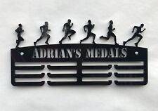 THICK 5mm Acrylic Personalised Male Runner 3Tier Medal Hanger / Medal Holder