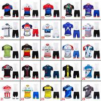 Mens Cycling Jersey Short Bib Shorts Set Bike Kits Shirt Maillots Pants Cool Pad
