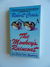Monkey's Raincoat by Robert Crais, First Edition 1987 Inscribed, Elvis Cole Card
