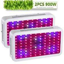 2PCS 900W LED Grow Light Panel Lamp for Plant Growing Hydroponics Full Spectrum