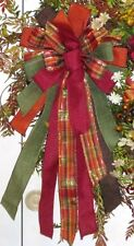 WIRED BOW for FLORAL DOOR WREATH SWAG GARLAND FENCE POST B8
