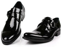 New Genuine Leather Men's Dress Formal Shoes Loafers Slip On Black