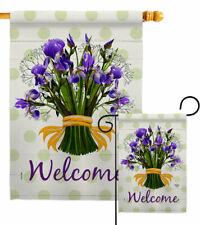 Iris Bouquet Garden Flag Floral Spring Decorative Small Gift Yard House Banner