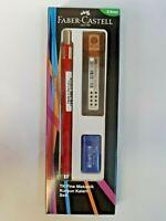 Faber Castell 3 in 1 Mechanical Pencil Set Pencil, Leads, Eraser Set 0.5 & 0.7mm