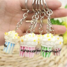 Gift Charm Alloy Cute Women Food Popcorn Key Holder Key Ring Jewelry Key Chain
