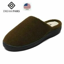 DREAM PAIRS Men's Memory Foam Slippers Comfort Plush Fleece Closed Toe Indoor
