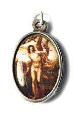 """St Sebastian relic 1"""" medal of patron Soldiers athletes holy Christian death"""