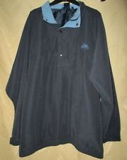 COTTON TRADERS SIZE L MENS NAVY ZIP NECK WINDCHEATER TOP