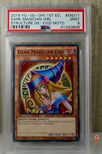 1st Ed Dark Magician Girl Non-Holo 2016 Yu-Gi-Oh! Card SDMY-EN011 PSA 9 MINT