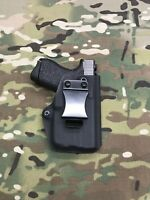 Black Kydex IWB Holster for Glock 42 TLR-6 - Appendix Draw