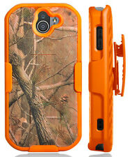 Orange Camo Tree Real Woods Case + Belt Clip for Kyocera DuraForce Pro 2 E6910