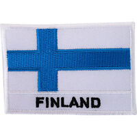 Finland Flag Embroidered Iron Sew On Patch Finnish Shirt Jacket Embroidery Badge