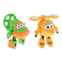 Super Transforming Robot Plane Vehicle Character Figures Cartoon Toy Gifts