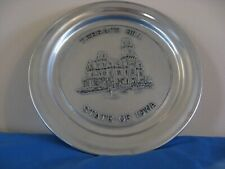 Rare STATE of IOWA * Governors Residence * Terrace Hill *Wilton Armetale Plate