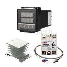 REX-C100 PID Temperature Control + 40A SSR + 1M K Thermocouple Probe + Heat Sink