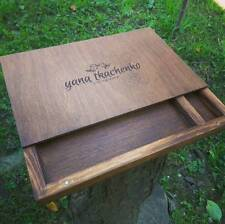 Photo Album Wood Wedding Box Frame Picture engraved Memory Photography 15x21 cm