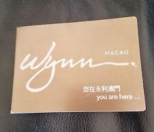 Wynn Macau Casino Site Map Foldable Souvenir Memorabilia Collectible Poker Hotel