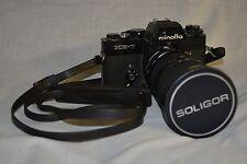 UNTESTED MINOLTA XE-7 Camera Body with SOLIGOR 37-150MM Zoom Lens macro AS-IS