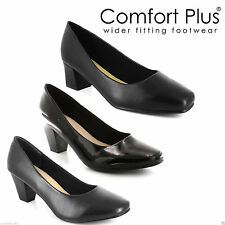 Business Block Heel Wide (E) Shoes for Women