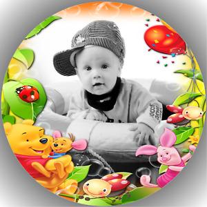 Tortenaufleger Geburtstag Tortenbild Fondant Oblate Winnie Pooh L17