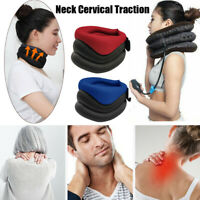 Neck Support Cervical Collar Traction Device Brace Stretch Pain Relief Therapy