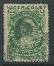 Niger Coast 1893 2d green CDS used