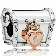 Genuine Silver Limited Edition Pan 2019 Club Charm Rose Gold Treasure Chest Box