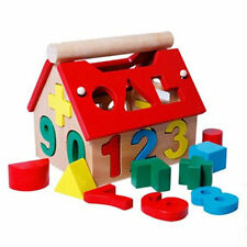 Posting House Shape Wooden Number Kids Educational Learning Toys Intellectual
