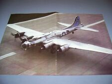 "VINTAGE..B-17 ""SENTIMENTAL JOURNEY""   ..-PAGE COLOR  PHOTO PAGES ...RARE! (163L)"