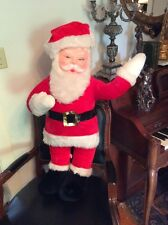 "Large 34"" Vintage Rubber Face Santa Claus Doll By Superior Toy & Novelty Co."