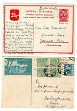 1937/39 Lithuania to Germany Postal Stationery Cards x 2 / Illustrated.