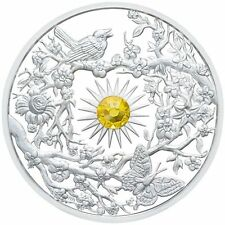 "2017 Niue $5 2oz Proof Silver 999 50mm Coin 1st in ""4-Season"" Series - ""SPRING"""