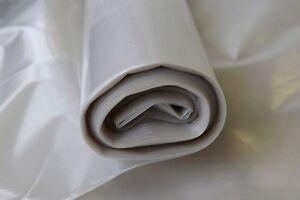 Natural Clear Plastic Polythene Film 4M x 200um x 50m Australian Made