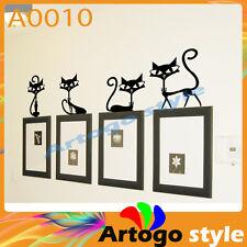 A0010 elegant cats Decal Sticker Wall floor furniture windows PC gift Decor