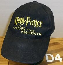 HARRY POTTER AND THE ORDER OF THE PHOENIX ADJUSTABLE HAT BLACK & GOLD GOOD COND