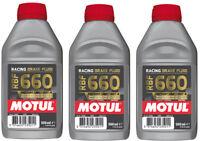 Motul RBF 660 Olio Liquido freni Racing moto DOT 4 3 x 500 ml 100% sintetico