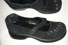 womens shoes Dansko mary jane Leather Loafers black size 38  good