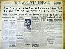 <1925 newspaper COURT MARTIAL OF GENERAL BILLY MITCHELL Father of US Air Force